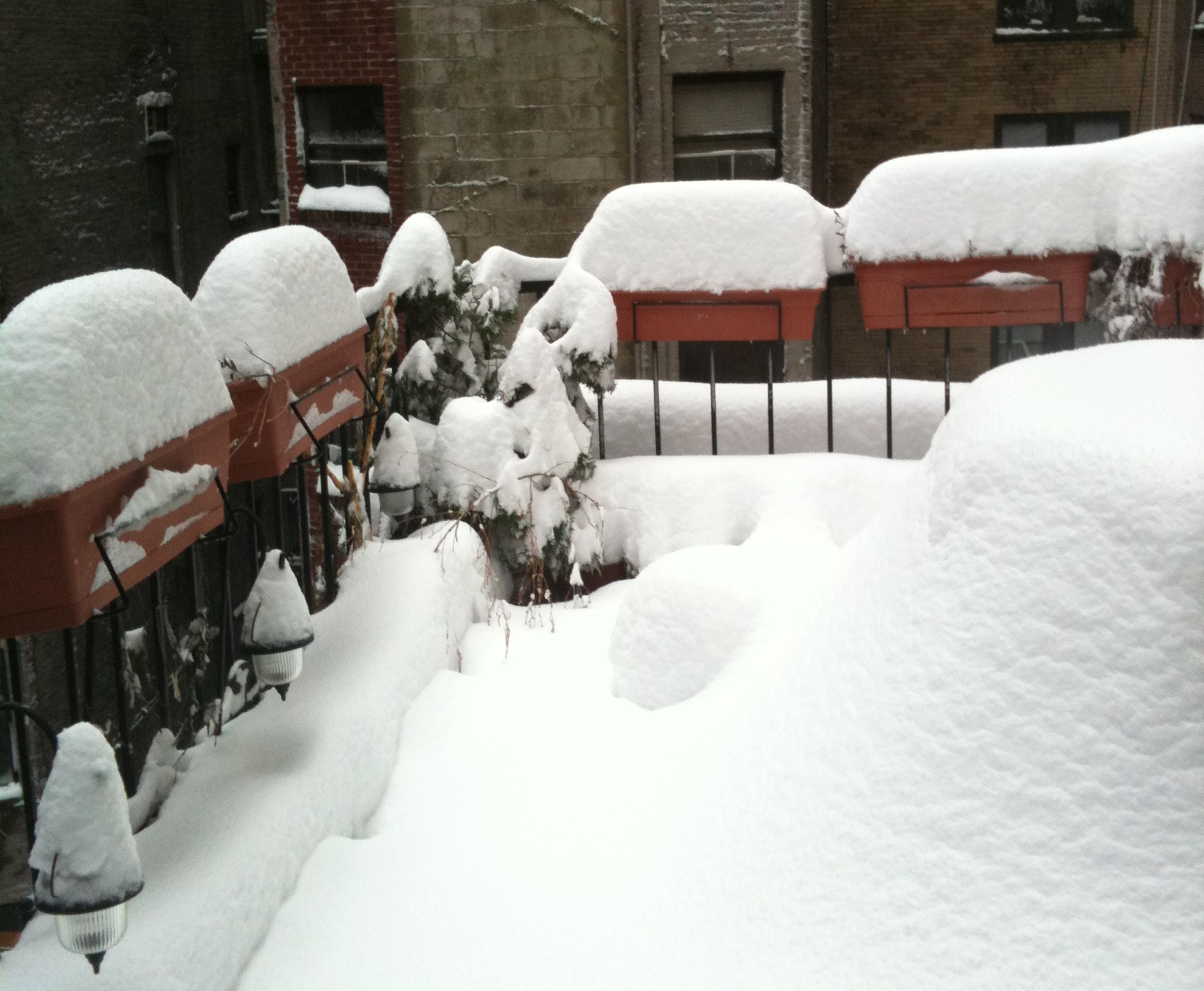 It's a snow day in NYC at 258 W 93rd Street.